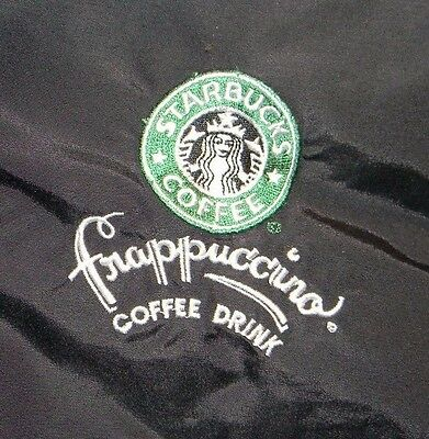 Starbucks Frappuccino Jacket Zip Out Bleed Liner Black Green Coat Coffee L - XL