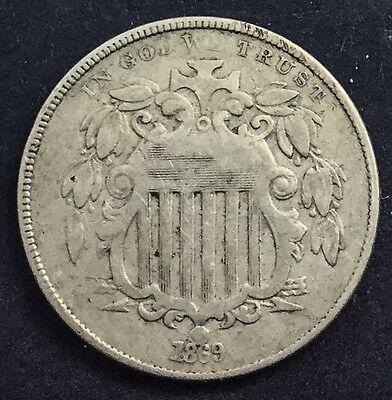 SHIELD NICKEL 1869  DECENT MID GRADE ORIGINAL COIN