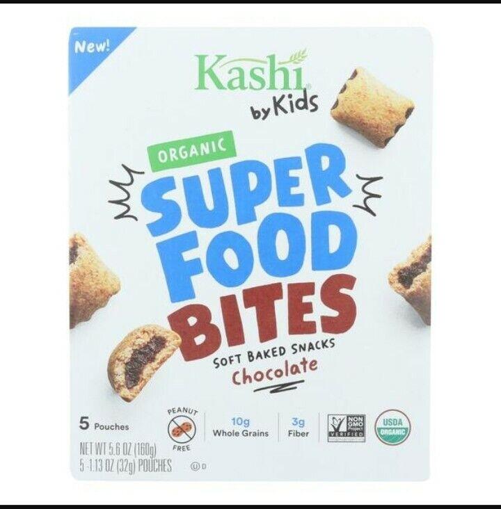 2 Boxes Kashi By Kids Super Food Bites Soft Baked Snacks Chocolate Organic Vegan
