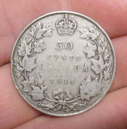 Canada - 1914 Silver 50 Cents - Key Date