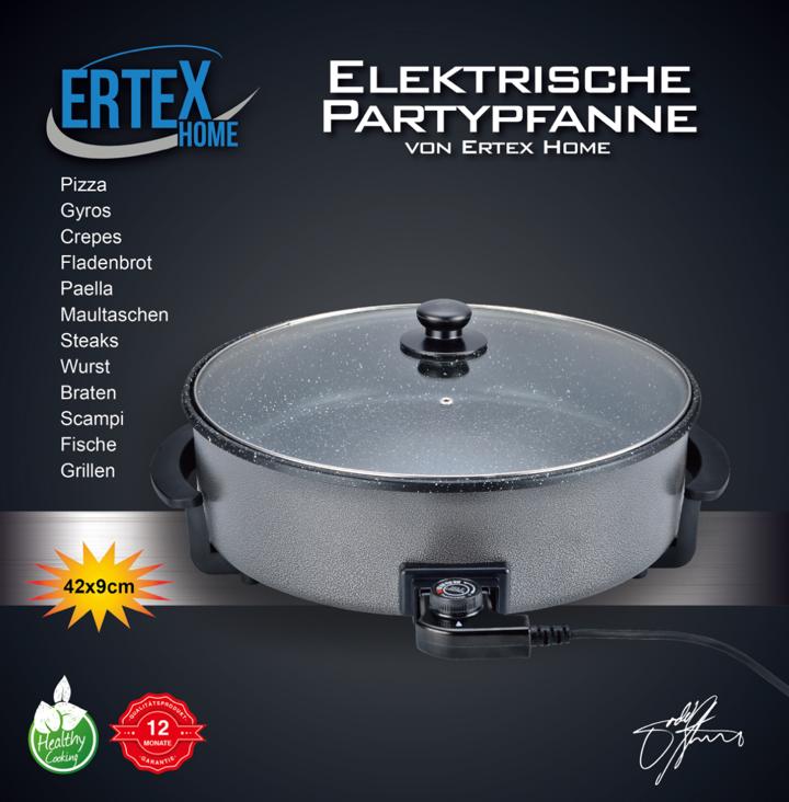 Partypfanne Ø 42/9 cm Elektropfanne Pizzapfanne Multipfanne Pfanne Bratpfanne