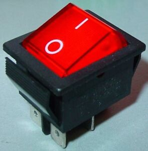 Wippschalter, Einbauschalter, große Wippe, 2-polig, EIN/AUS, 15A 250V, S35