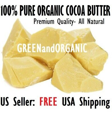 BEST QUALITY 15 Lbs Raw Cocoa Butter Organic PURE Natural Unrefined Virgin