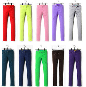Womens-stretch-color-pencil-pants-feet-pants-casual-skinny-jeans-trousers-4-size