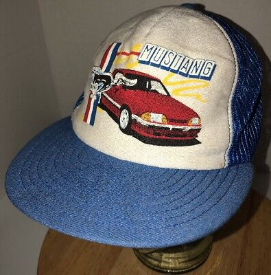 Vintage FORD MUSTANG 80s USA Screen Stars Best Trucker Hat Cap Snapback (Best Fox Body Mustang)