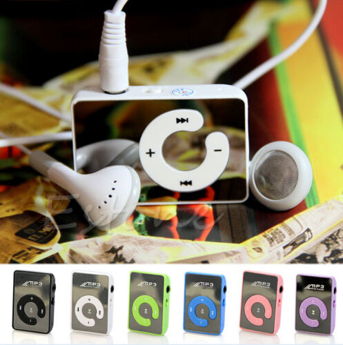 Mp3 Player Digital Music USB With Mini Clip Support 8GB Micro SD TF Card