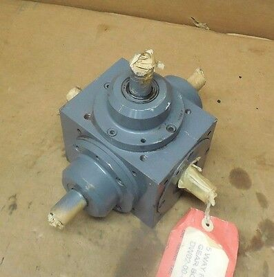 Tandler 01-za Xh-s515 5-way Right Angle Bevel Gearbox Speed Reducer 11