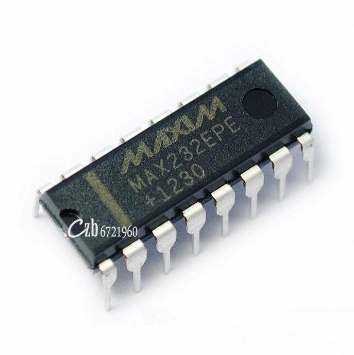 10PCS NEW MAX232EPE MAX232 DIP-16 MAXIM CHIP IC