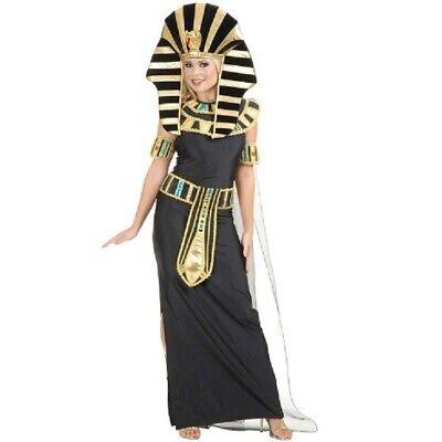 Charades Women's Black Nefertiti Pharaoh Costume Size X-Large NIP