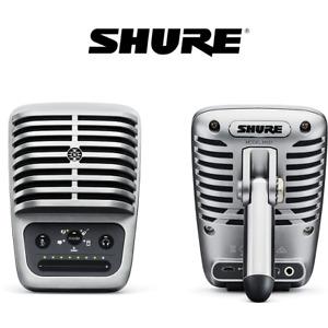 NEW SHURE LARGE-DIAPHRAGM CONDENSER MICRPHONE / MIC USB REG $250