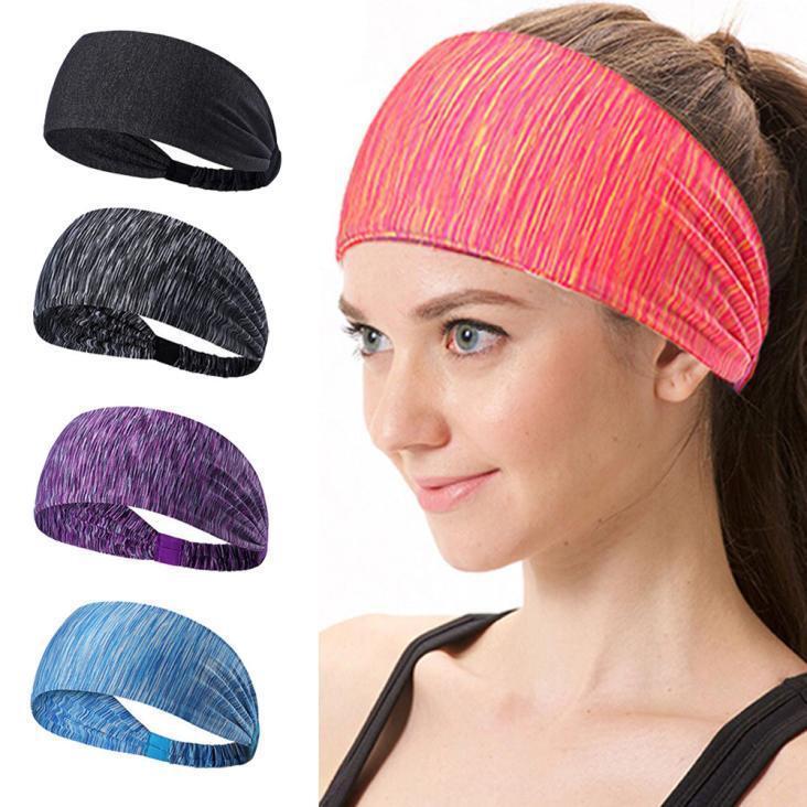 Lady Elastic Sport Yoga Headband Cotton Knotted Turban Head Warp Wide Hair Band 2