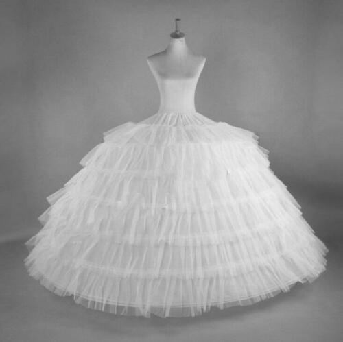 White Big 7-HOOP Wedding Bridal Prom Petticoats Underskirt Crinoline Ball Gowns