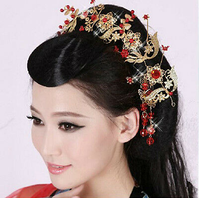 Bridal Wedding Jewelry Chinese Style Tiara Headband Queen Crown Ancient Fashion