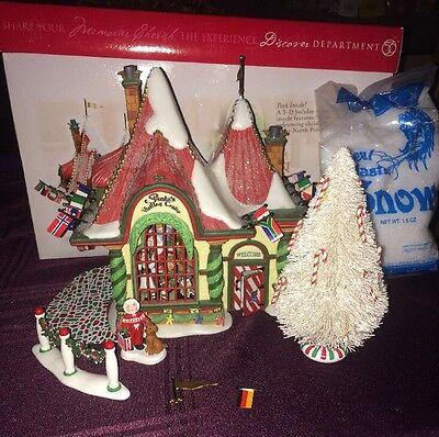 Department 56 Santa's Visiting Center North Pole Christmas Village in Box