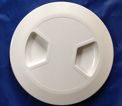 "INSPECTION HATCH WHITE BAYONET 6"" 150mm SAIL RIB CARAVAN DIY YACHT"