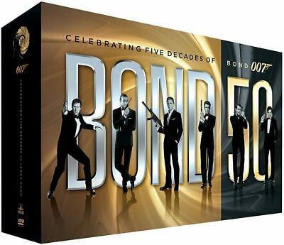 JAMES BOND 50 CELEBRATING 5 DECADES OF BOND 007 DVD BOX SET (2013) 23 MOVIES