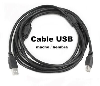 CABLE ALARGADOR 2.0 USB 2.8 M 2 8 METROS MACHO HEMBRA COLOR...