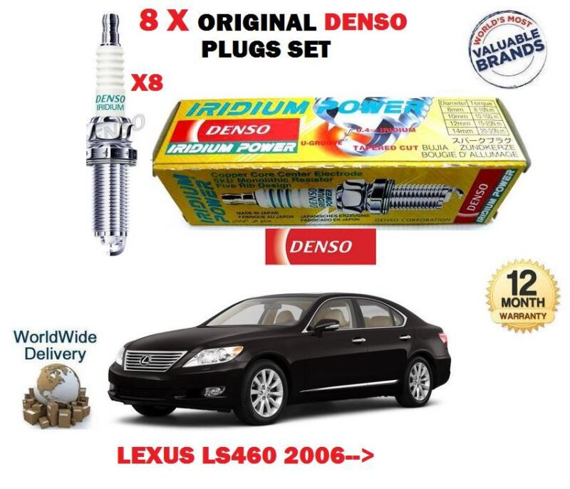 FOR LEXUS LS460 1UR-FSE 32v 2006-> DENSO IRIDIUM POWER SPARK PLUGS SET X 8