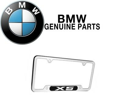 For BMW E53 X5 Polished Stainless Steel License Plate Frame Chrome Genuine