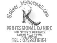 Professional Club/mobile Dj hire PLI & Access NI certificate