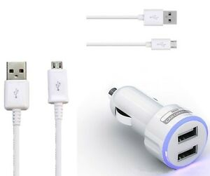 2.1A Dual Port Car Charger & Micro USB Cable For Samsung Galaxy S6 Edge / S6 :CR