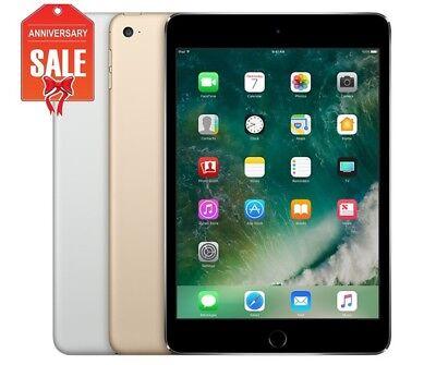 Apple iPad Mini 4 WiFi - Cellular (Unlocked) 16GB 32GB 64GB Gray Silver Gold (U)