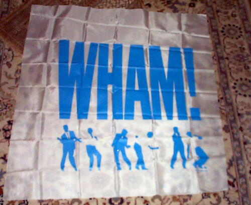 WHAM  Vintage Silk Screened Giant Tapestry Banner Last One