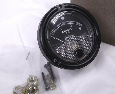 Phaostron 15a Dc Ammeter W Bright Lume Jewel Movt Shielded. Mr26b015dcaar