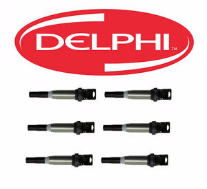Set of 6 ignition coil DELPHI BMW 335 2007 TO 2011