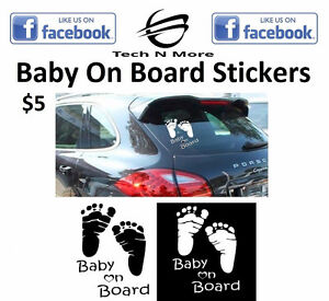 Baby On Board Stickers (2 Colors)