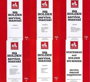Holden HQ WB Statesman 1971 - 1985 Service Manual 6 Volume Set Blacktown Blacktown Area Preview