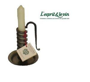 Porta candela bugia cantiniere per per vino ferro battuto for Bugia candela