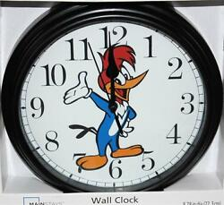 WOODY WOODPECKER CLOCK-NEW-8/12 IN DIAMETER-BATTERY OPERATED-DISCOUNT PRICING