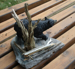 3-D Hand Crafted Black Bear Table Sculpture Belleville Belleville Area image 4