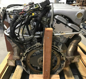Brand new Mercedes Benz M 120 V12 engine in crate