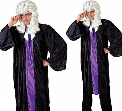 Erwachsene Herren Hoch Court Richter Robe Mantel Rechtsanwalt - Schwarze Richter Robe Kostüm