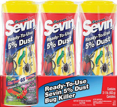 GardenTech Sevin Insect Killer For Leaf Eating and Sucking Insects 3-1 lb