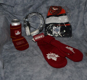 2012 Red Mitts, Chicago Bears Knit hat, Beer cozies