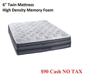 Brand New High Density Memory Foam Mattress - 6 Inch Twin ------