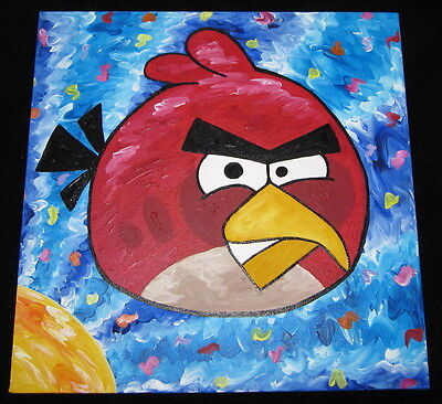 STEFANIE,ANGRY BIRDS SUITE,SIGNED,ORIGINAL,ANGRY BIRDS MOVIE,STEVE KAUFMAN PIC!