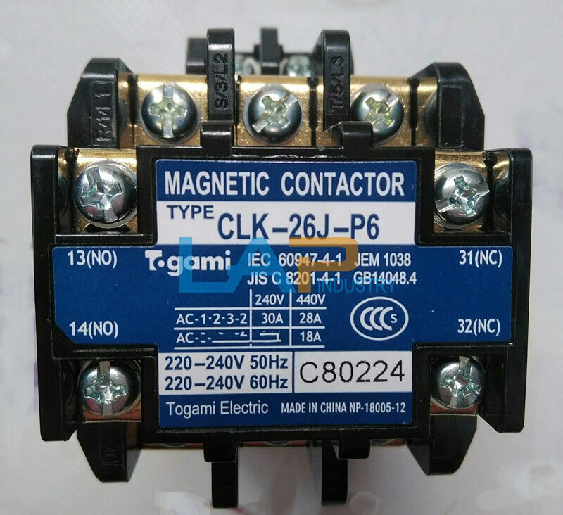 1PCS new For TOGAMI AC contactor CLK-26J-P6 AC220V