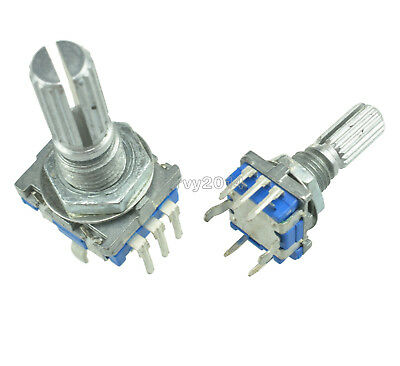5 Pcs Rotary Encoder With Switch Ec11 Audio Digital Potentiometer 20mm Handle