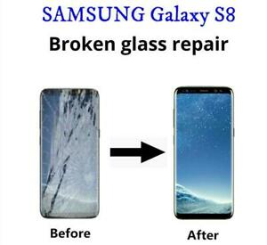 Samsung Galaxy S8 & S8+ Plus cracked screen display glass LCD repair FAST **