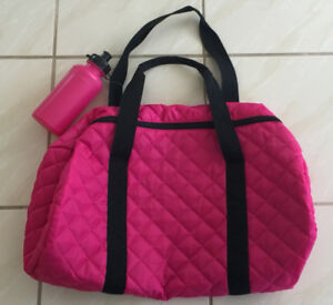 2 Gym/Weekender Bags with Matching Water Bottle
