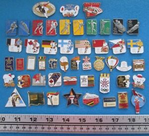 50 ÉPINGLETTES PIN'S JEUX OLYMPIQUES CALGARY '88 OLYMPIC GAMES