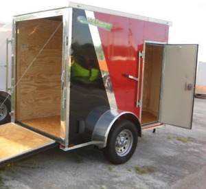 Cargo trailer 5'x8' with rear ramp 4,800$  OBO