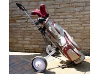Founders Club ladies golf club set with bag and trolley, hardly used and very good condition