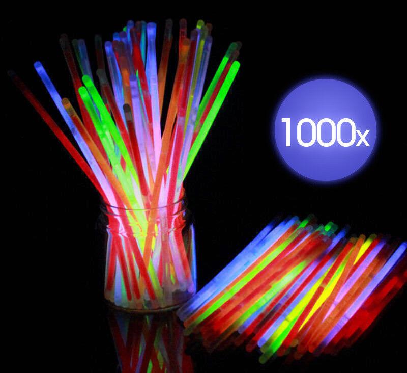 "With Lanyards Mixed Box Of 50 The Glow Company 6"" Light Sticks glow Sticks"