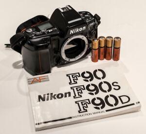 Nikon film cameras and lenses