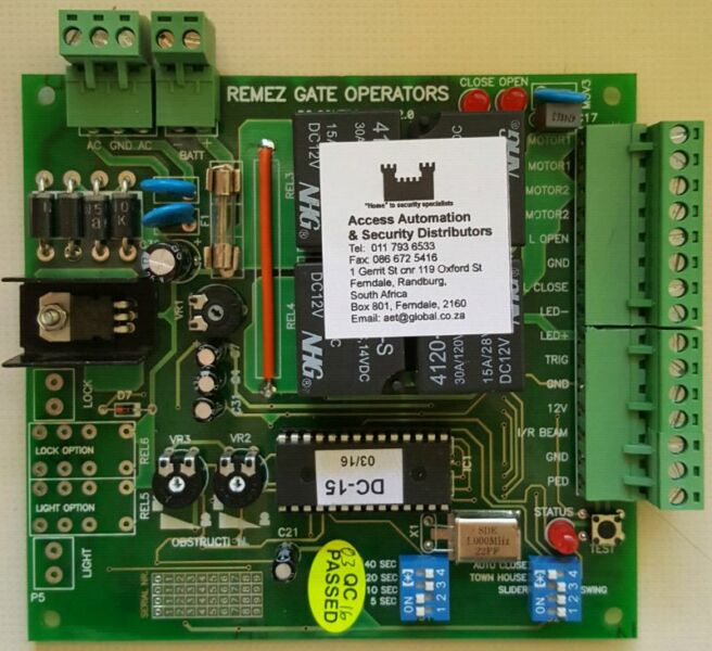Remez Gate Motor Control Boards Pcb Randburg Gumtree